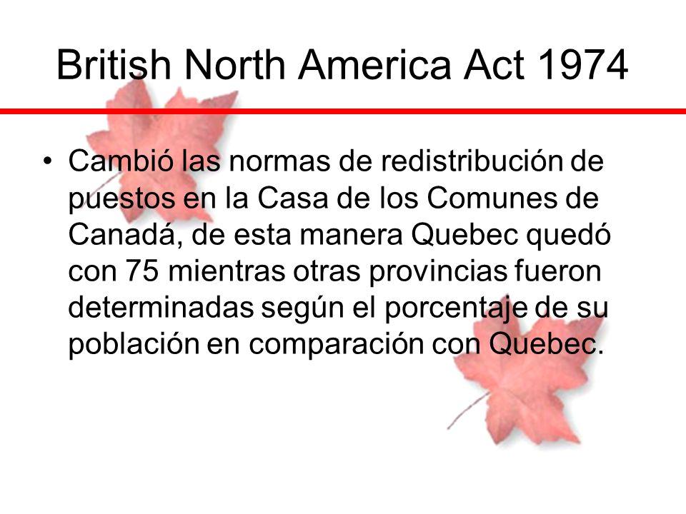 British North America Act 1974