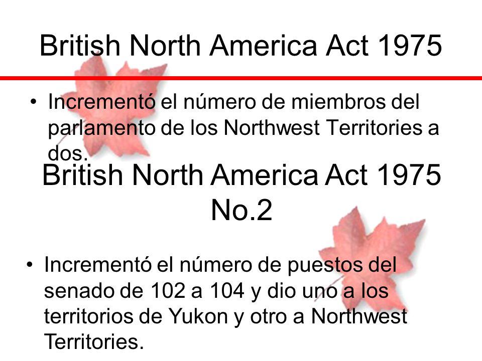 British North America Act 1975