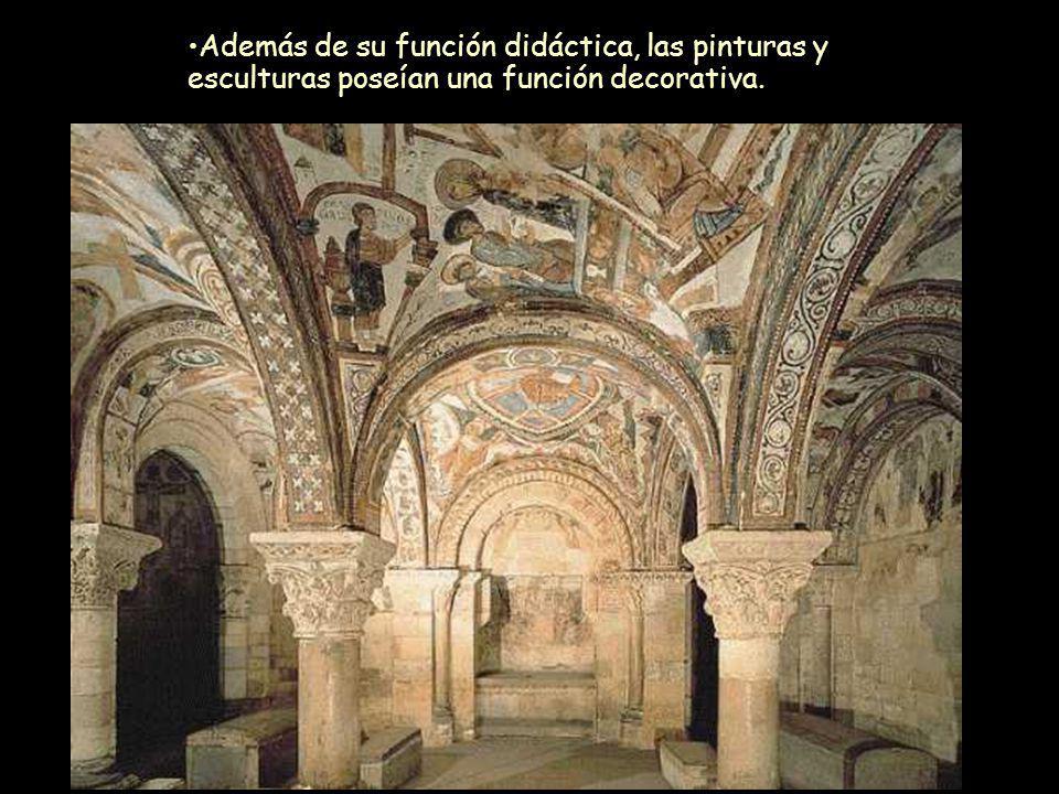Además de su función didáctica, las pinturas y esculturas poseían una función decorativa.