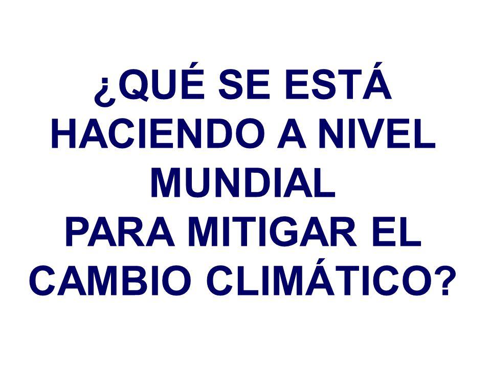 PARA MITIGAR EL CAMBIO CLIMÁTICO