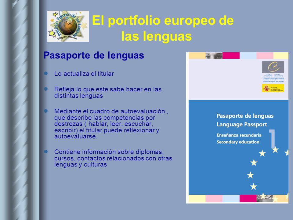 Pasaporte de lenguas Lo actualiza el titular