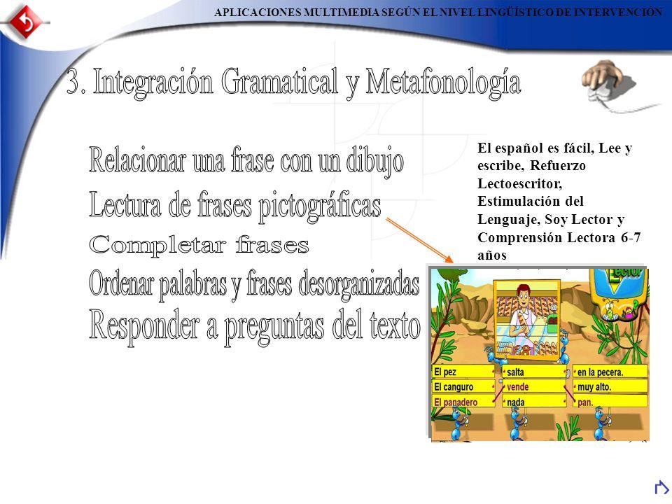 3. Integración Gramatical y Metafonología