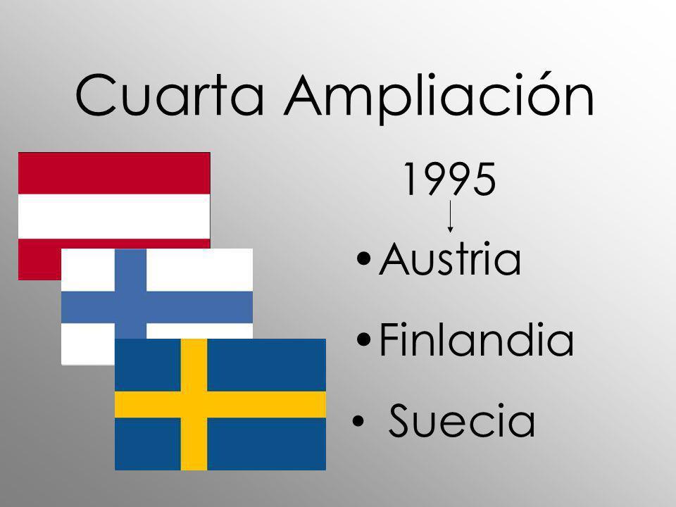 Cuarta Ampliación 1995 Austria Finlandia Suecia
