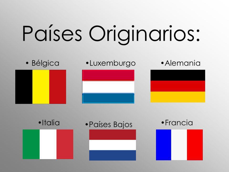 Países Originarios: Bélgica Luxemburgo Alemania Italia Francia