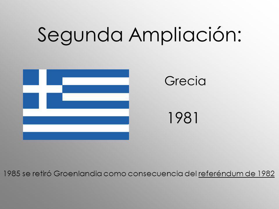 Segunda Ampliación: 1981 Grecia