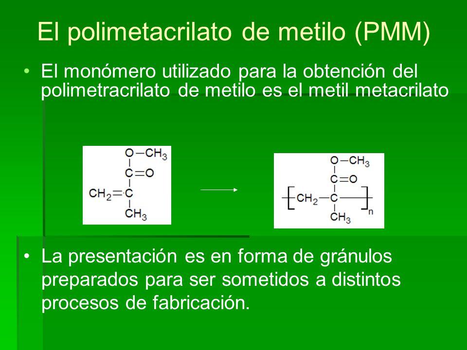 El polimetacrilato de metilo (PMM)