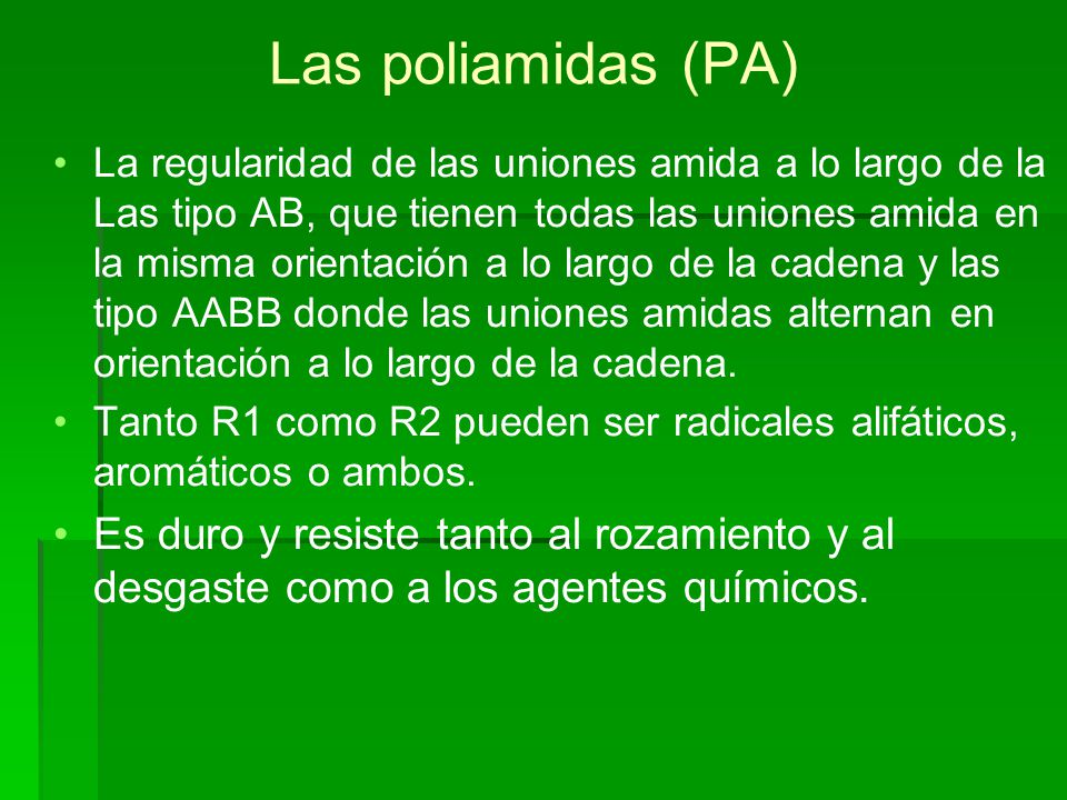 Las poliamidas (PA)