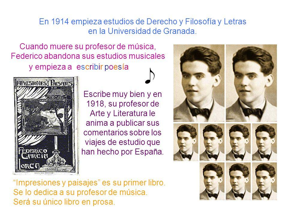En 1914 empieza estudios de Derecho y Filosofía y Letras