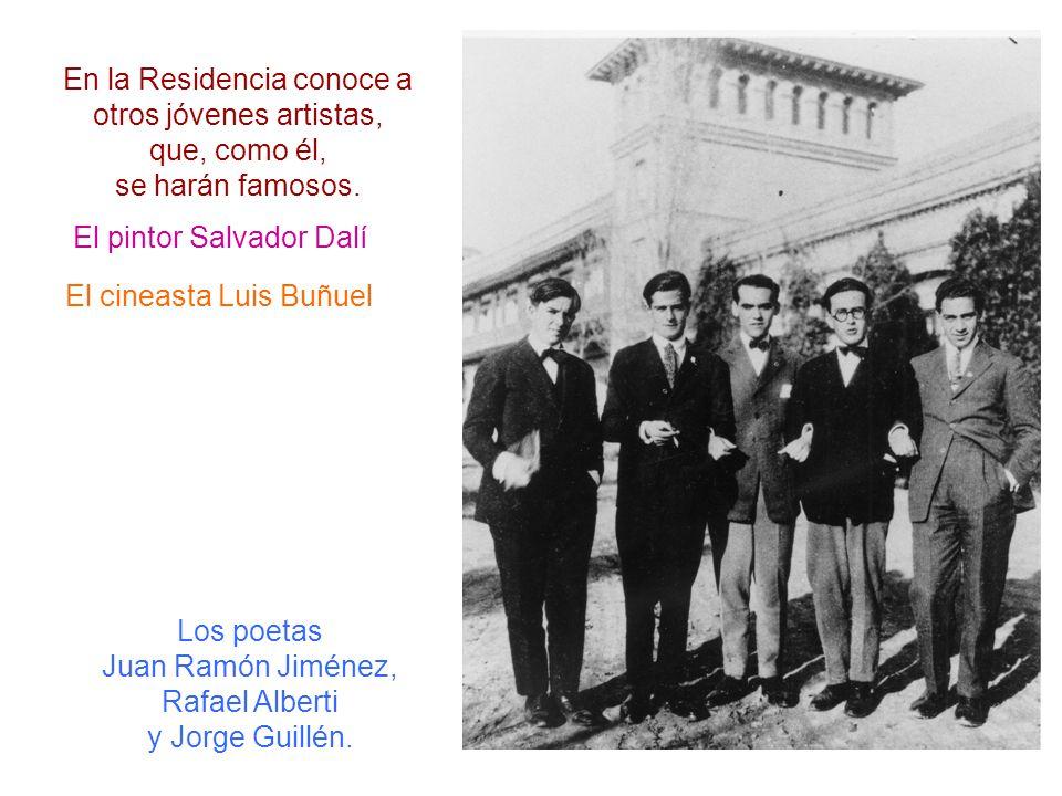 Los poetas Juan Ramón Jiménez, Rafael Alberti y Jorge Guillén.