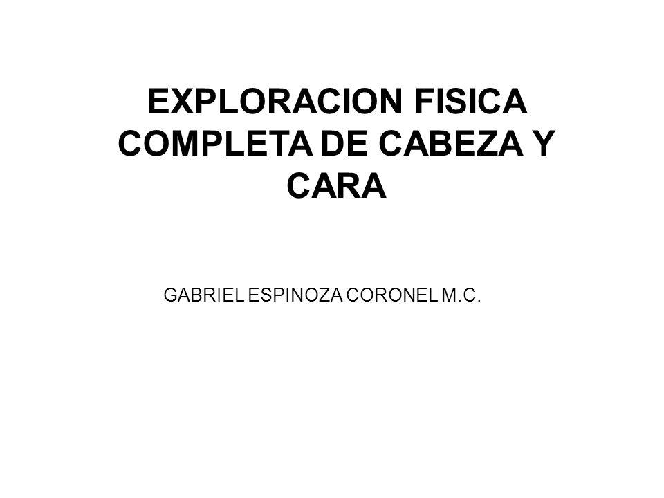 EXPLORACION FISICA COMPLETA DE CABEZA Y CARA