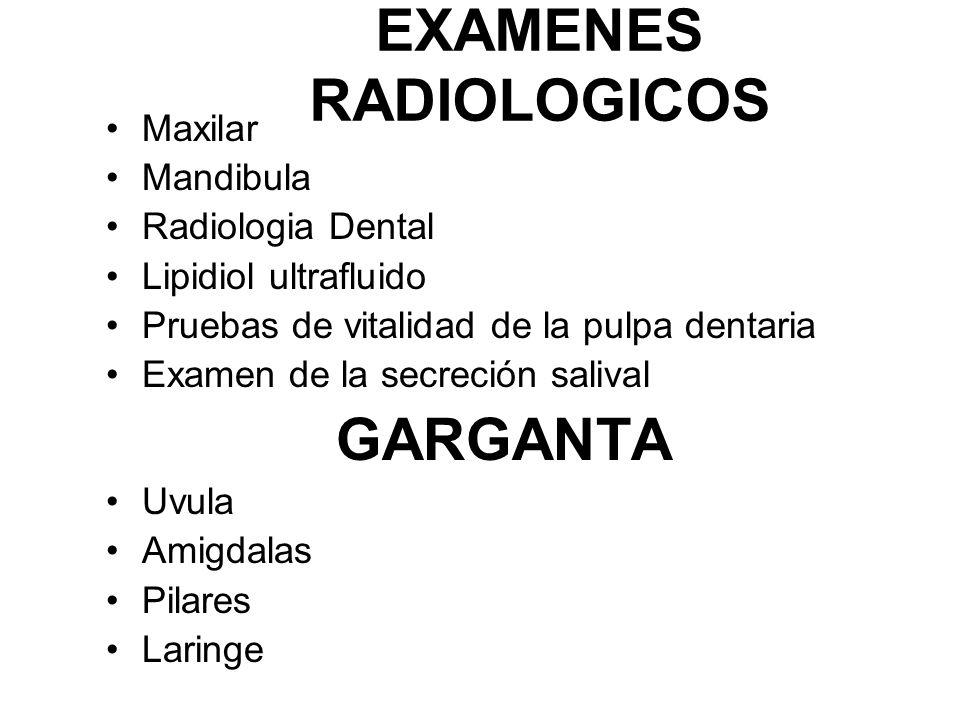 EXAMENES RADIOLOGICOS
