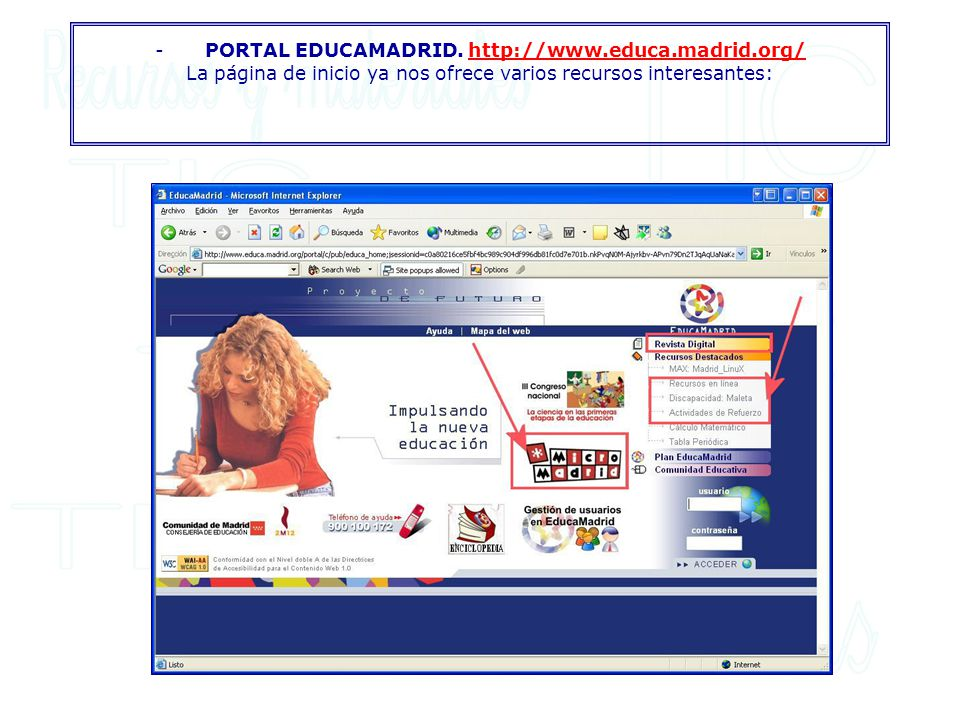 - PORTAL EDUCAMADRID. http://www. educa. madrid