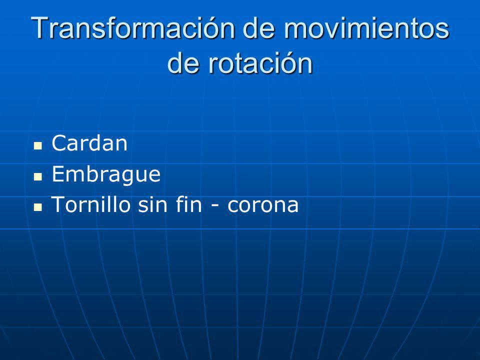 Transformación de movimientos de rotación