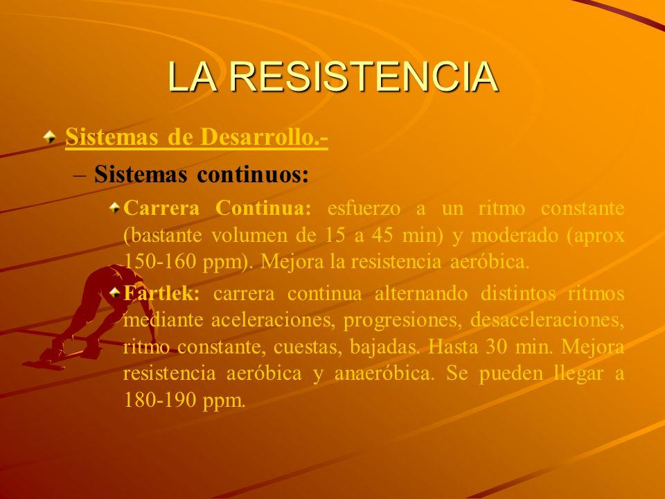 LA RESISTENCIA Sistemas de Desarrollo.- Sistemas continuos: