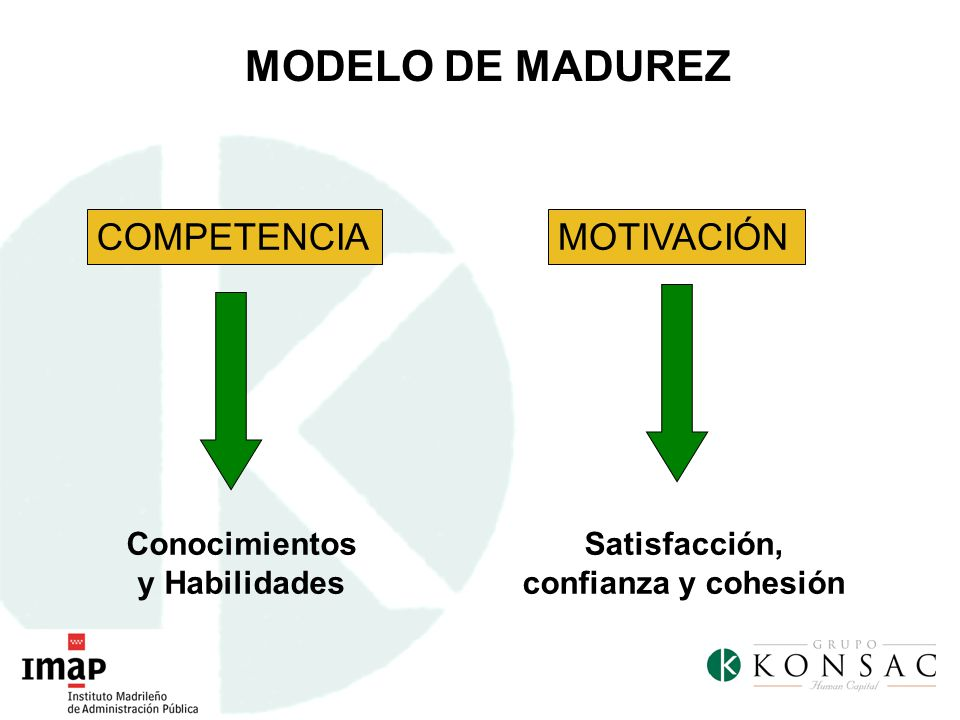 Conocimientos y Habilidades Satisfacción, confianza y cohesión