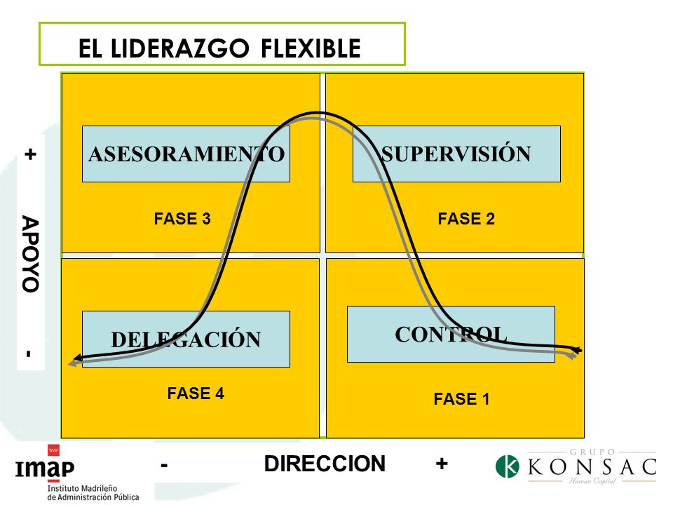 EL LIDERAZGO FLEXIBLE + APOYO - CONTROL ASESORAMIENTO SUPERVISIÓN
