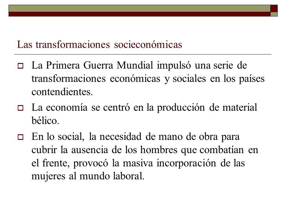 Las transformaciones socieconómicas