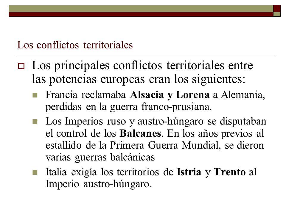 Los conflictos territoriales