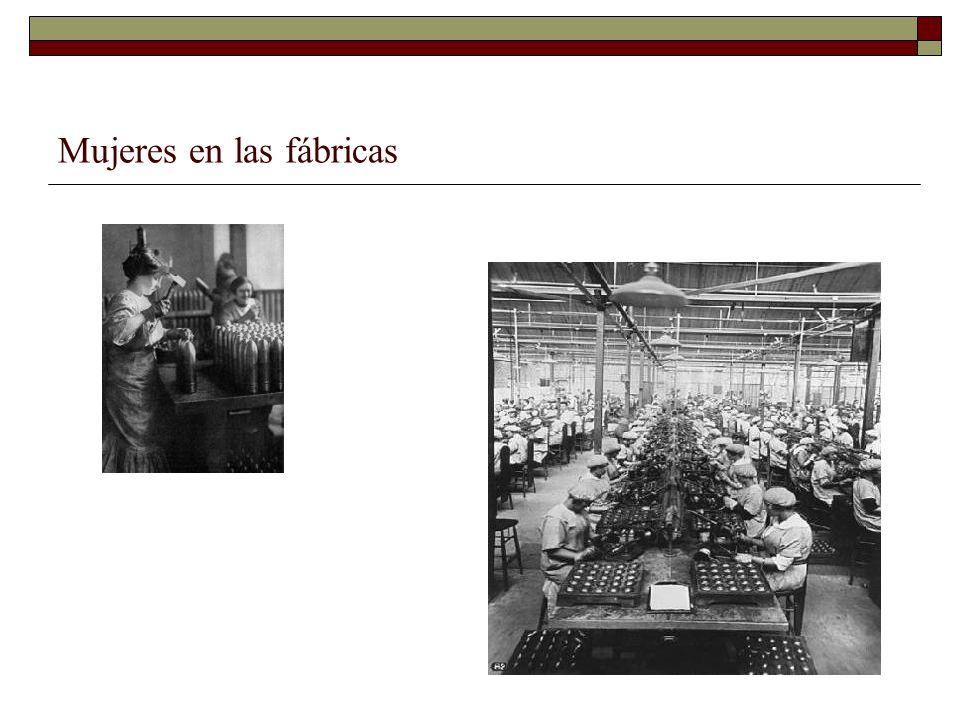 Mujeres en las fábricas