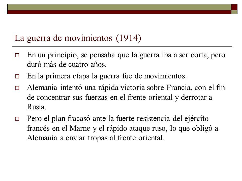La guerra de movimientos (1914)