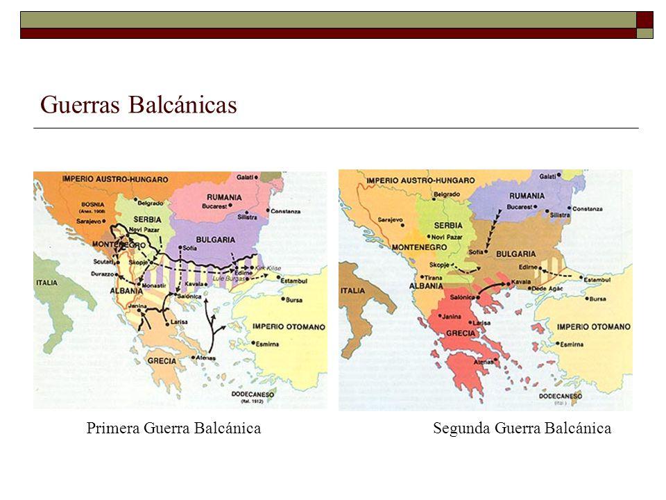 Guerras Balcánicas Primera Guerra Balcánica Segunda Guerra Balcánica