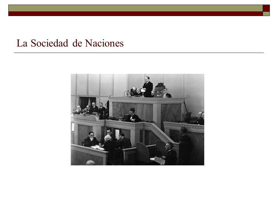 La Sociedad de Naciones