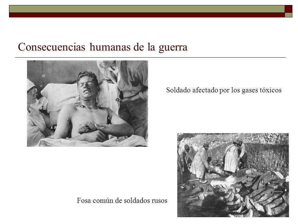 Consecuencias humanas de la guerra