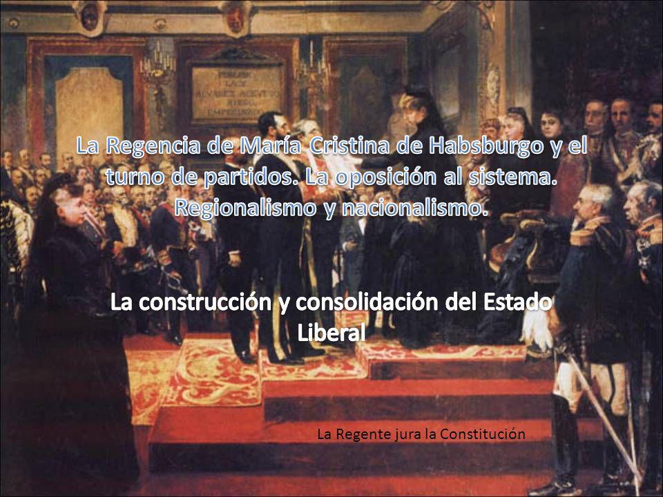 La Regencia de María Cristina de Habsburgo y el turno de partidos