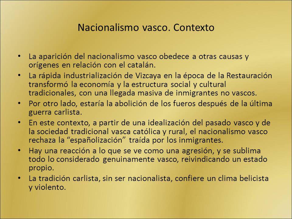 Nacionalismo vasco. Contexto