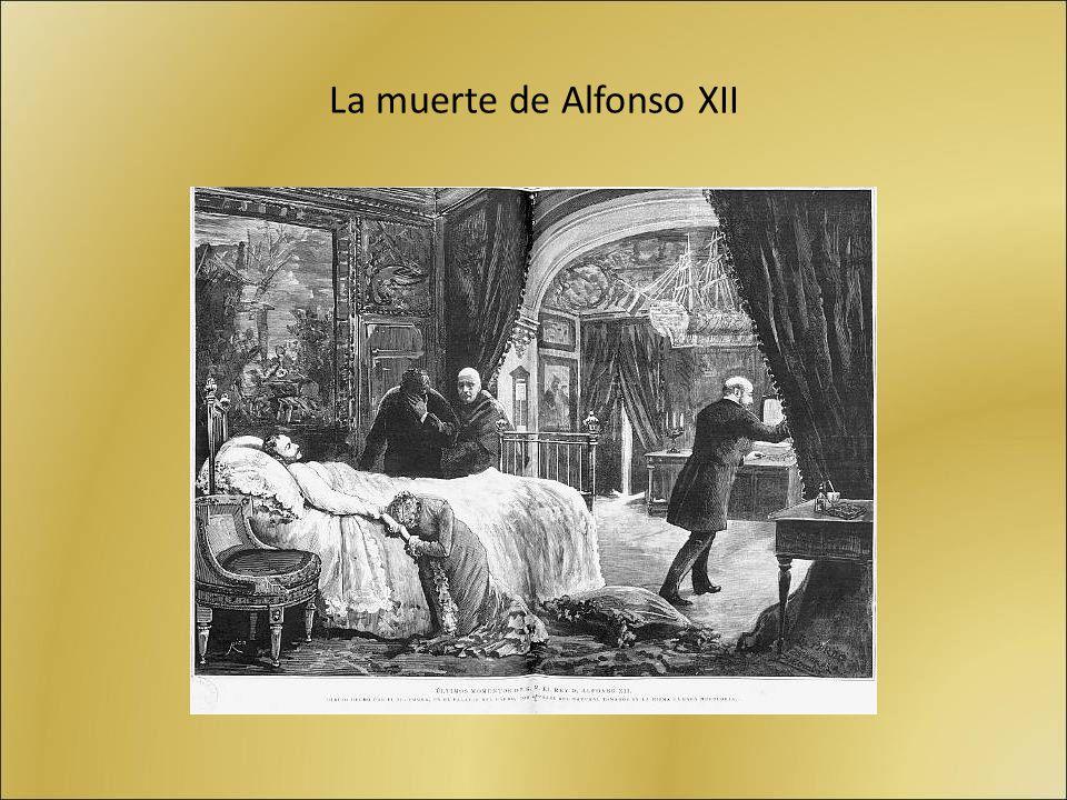 La muerte de Alfonso XII