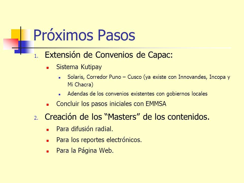 Próximos Pasos Extensión de Convenios de Capac: