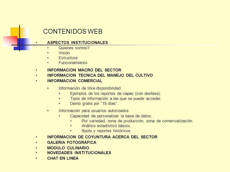 CONTENIDOS WEB ASPECTOS INSTITUCIONALES Quienes somos Visión