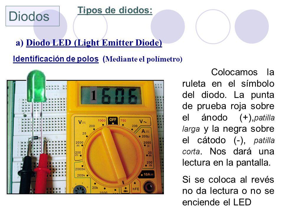 1 Diodos Tipos de diodos: a) Diodo LED (Light Emitter Diode)
