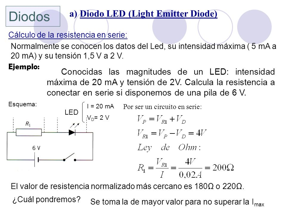 Diodos a) Diodo LED (Light Emitter Diode)