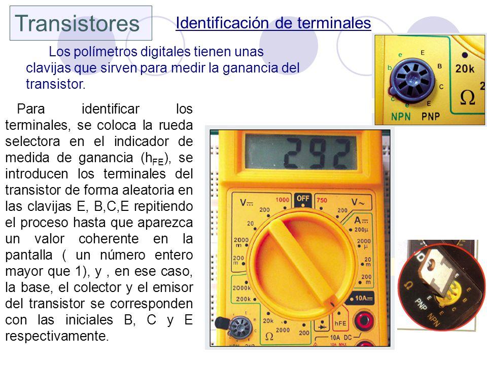 Transistores Identificación de terminales