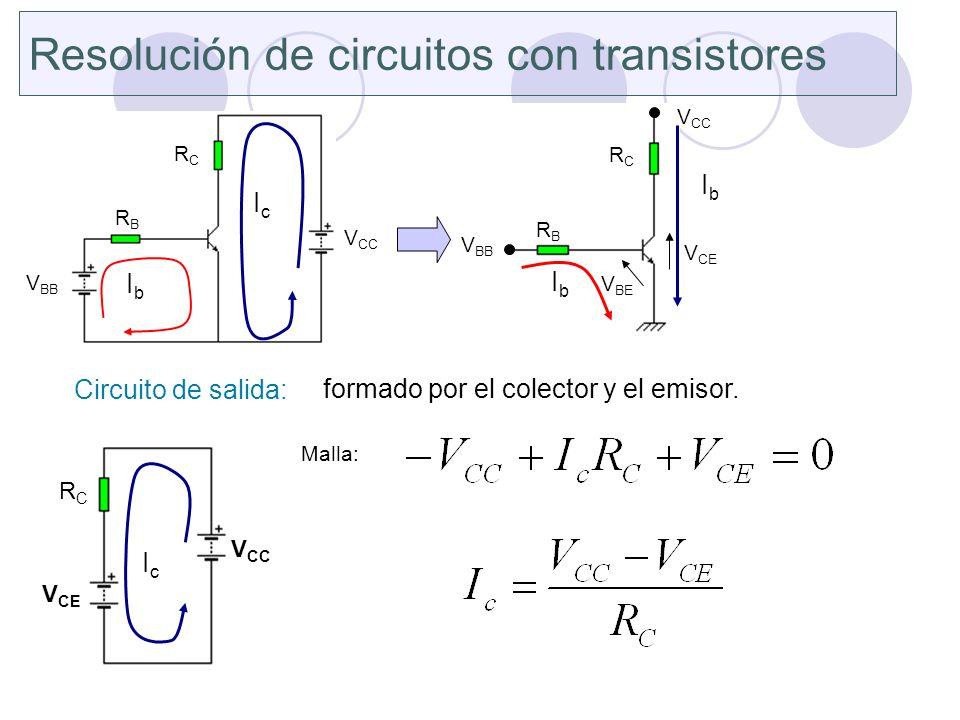 Resolución de circuitos con transistores
