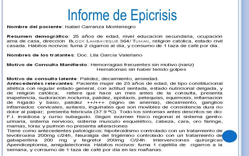 Informe de Epicrisis