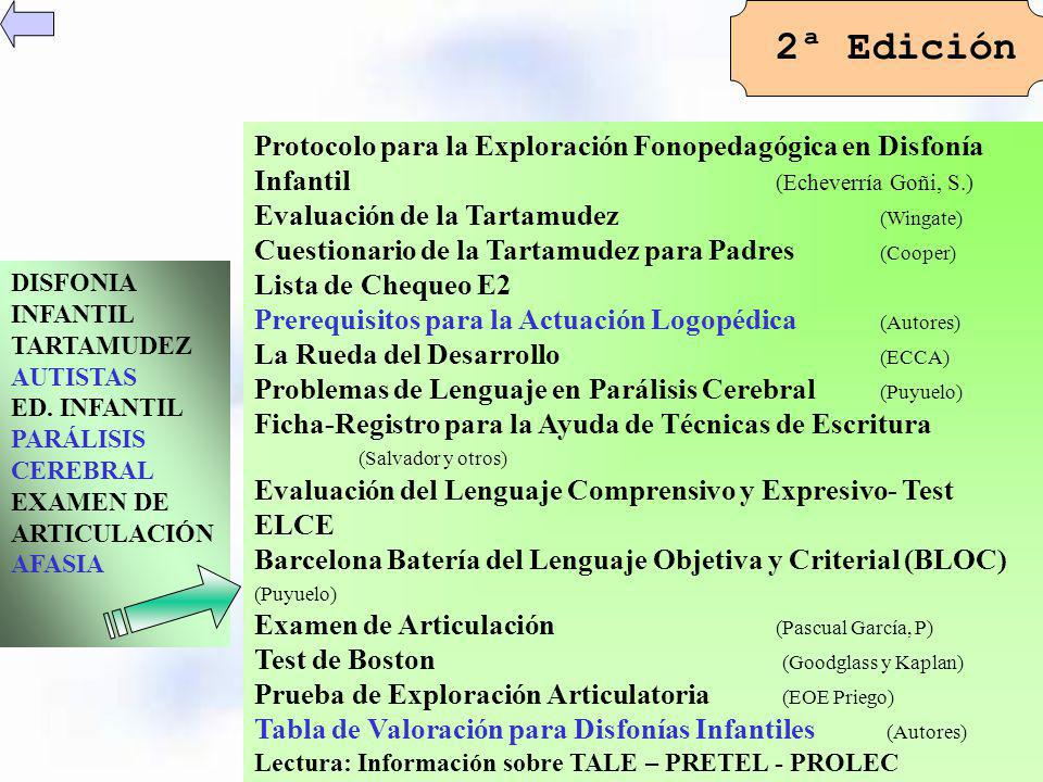 2ª Edición Protocolo para la Exploración Fonopedagógica en Disfonía Infantil (Echeverría Goñi, S.)