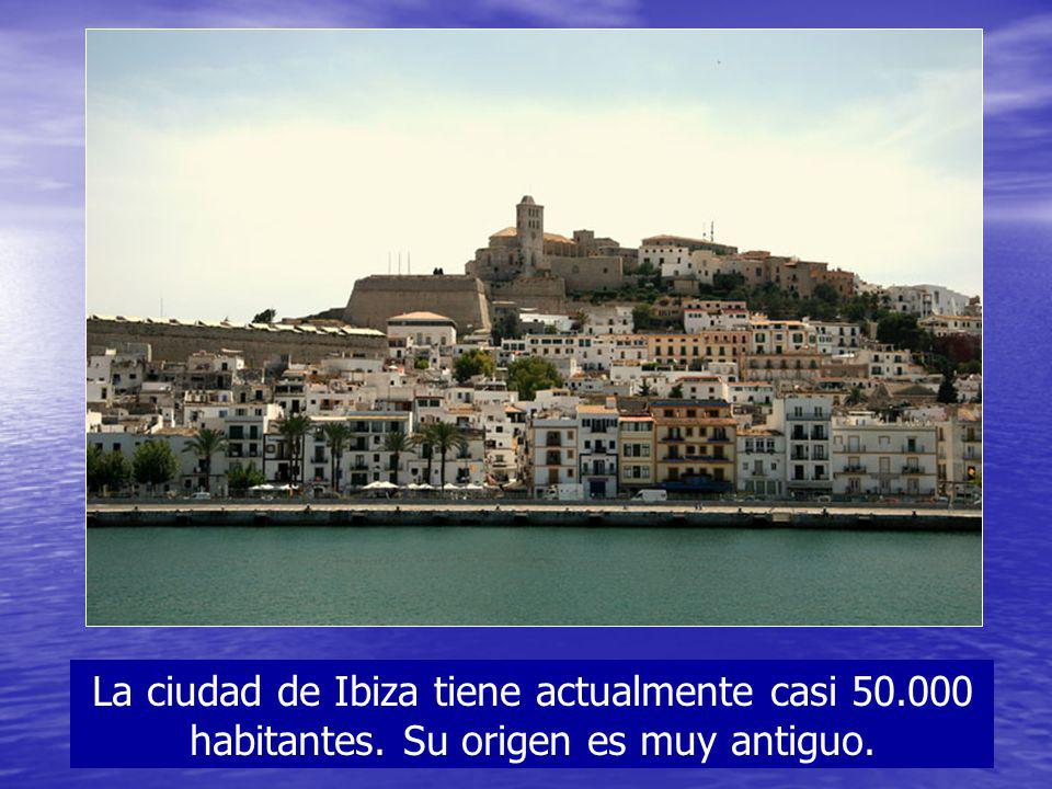 La ciudad de Ibiza tiene actualmente casi 50. 000 habitantes