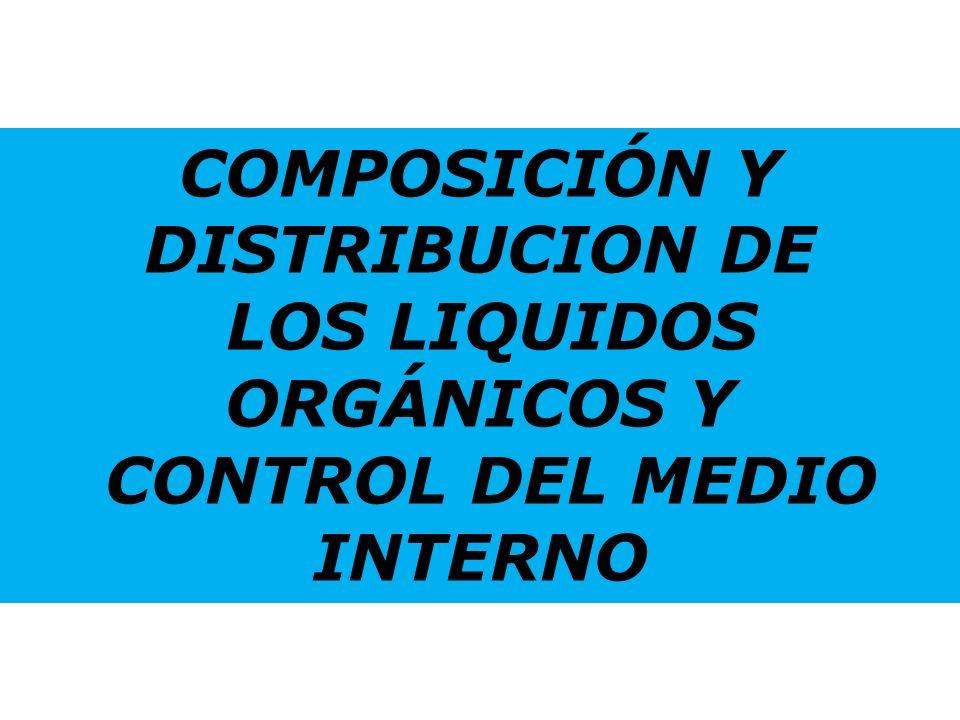 COMPOSICIÓN Y DISTRIBUCION DE LOS LIQUIDOS ORGÁNICOS Y