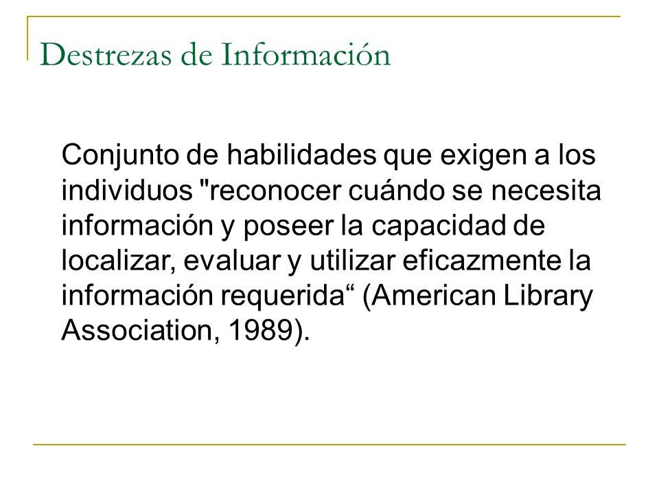 Destrezas de Información