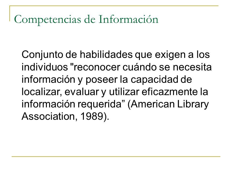 Competencias de Información