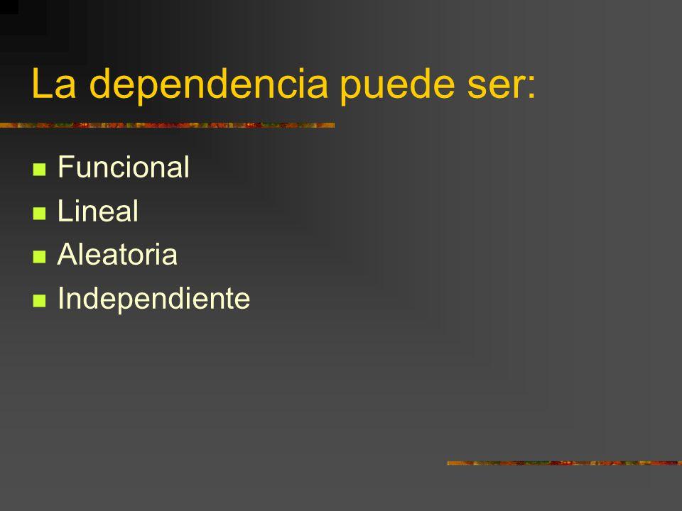 La dependencia puede ser: