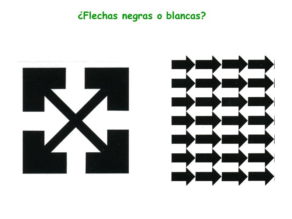 ¿Flechas negras o blancas