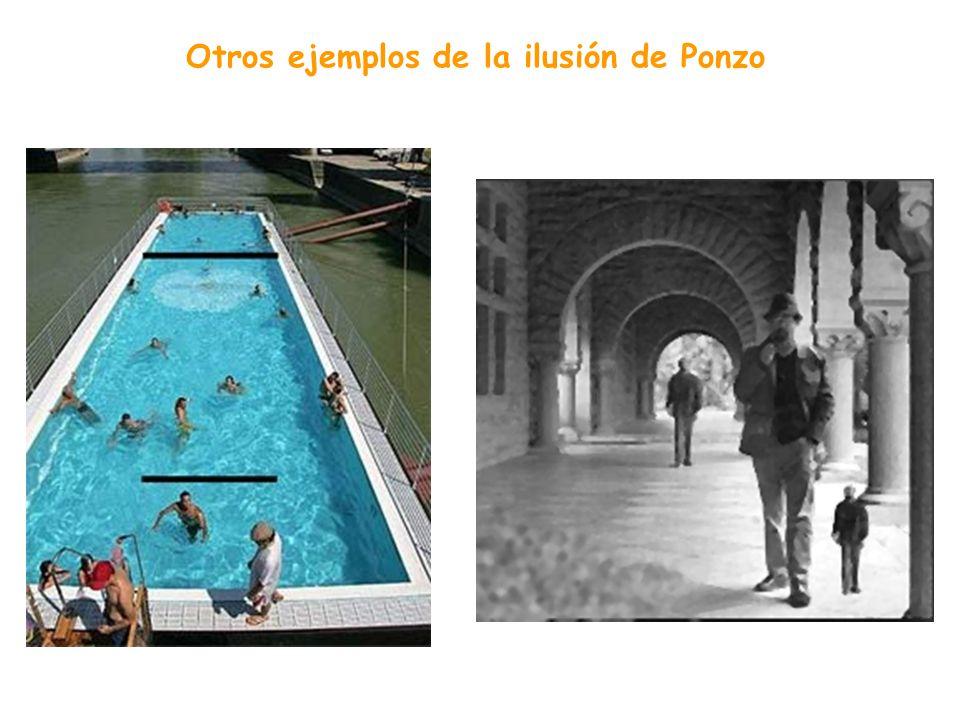 Otros ejemplos de la ilusión de Ponzo