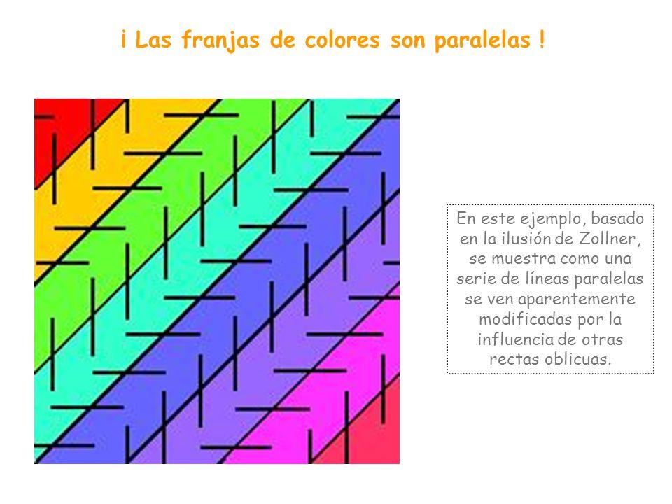 ¡ Las franjas de colores son paralelas !