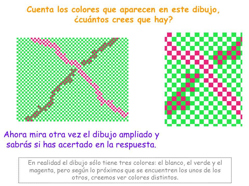 Cuenta los colores que aparecen en este dibujo, ¿cuántos crees que hay