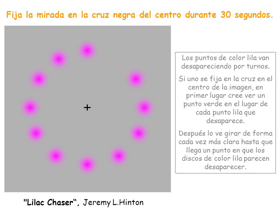 Fija la mirada en la cruz negra del centro durante 30 segundos.