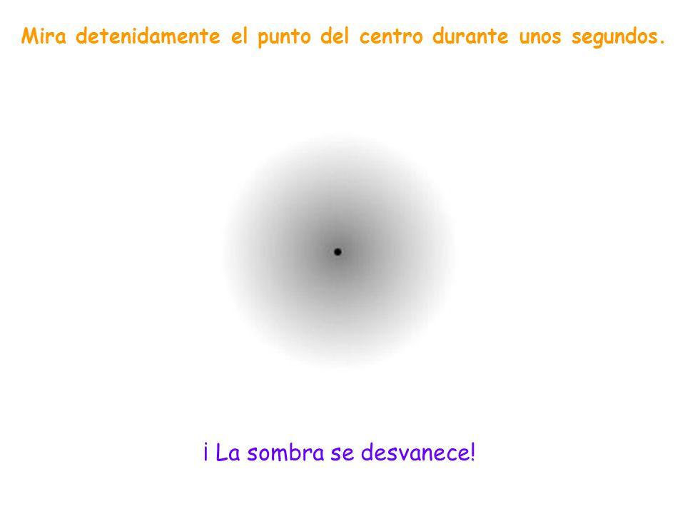 Mira detenidamente el punto del centro durante unos segundos.