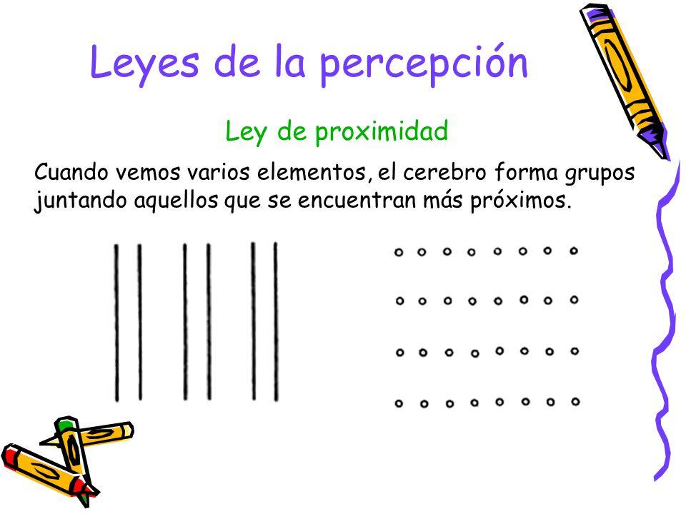 Leyes de la percepción Ley de proximidad